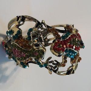 Sparkly Frog Cuff Bracelet